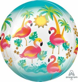 SKS BALLON ORBZ- FLAMANTS ROSE
