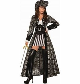 Forum Novelty COSTUME ADULTE CAPITAINE SILVA BLACK SKULL