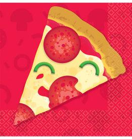 Amscan SERVIETTES COCKTAIL - PIZZA (16)
