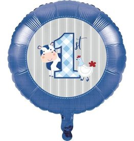 Creative Converting MYLAR 18 INCH BALLOON - FARMHOUSE BIRTHDAY BOY