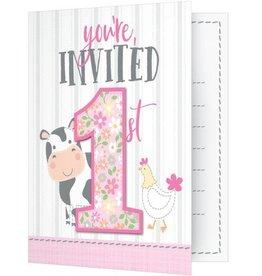 Creative Converting Copy of INVITATIONS - FÊTE À LA FERME GARÇON