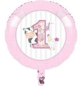 Creative Converting MYLAR 18 INCH BALLOON - FARMHOUSE 1ST BDAY GIRL