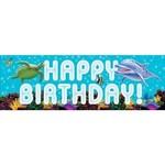 Creative Converting BANNIÈRE GÉANTE HAPPY BIRTHDAY - SOUS L'OCEAN