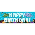 Creative Converting BANNIERE GEANTE HAPPY BIRTHDAY SOUS L'OCEAN