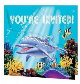 Creative Converting INVITATIONS (8) - SOUS L'OCEAN