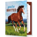 Creative Converting INVITATIONS (8) - CHEVAUX & PONEY