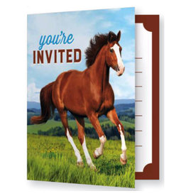Creative Converting INVITATIONS (8) - CHEVAUX & PONEY