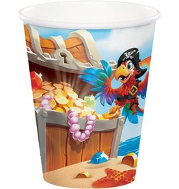 Creative Converting VERRES 9OZ (8) - TRÉSORS DE PIRATES