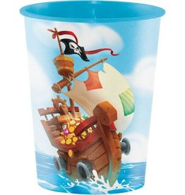 Creative Converting VERRE DE PLASTIQUE 16OZ - TRÉSORS DE PIRATES
