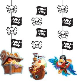 Creative Converting DÉCORATIONS À SUSPENDRE - TRÉSORS DE PIRATES