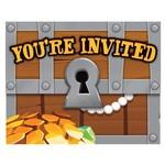 Creative Converting INVITATIONS (8) - TRÉSORS DE PIRATES