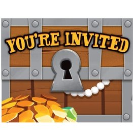 Creative Converting INVITATIONS (8) - TRÉSORS DE PIRATES