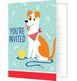 Creative Converting INVITATIONS - CHIENS EN FÊTE
