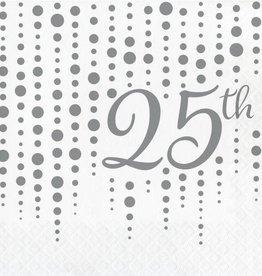 Creative Converting SERVIETTES DE TABLE (16) - 25E ANNIVERSAIRE MARIAGE