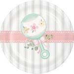 Creative Converting ASSIETTES 7PO (8) - BABY SHOWER CHAMPÊTRE