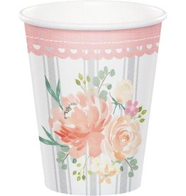 Creative Converting VERRES 9OZ (8) - BABY SHOWER CHAMPÊTRE