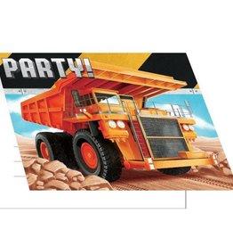 Creative Converting CARTE D'INVITATIONS (8) - CONSTRUCTION BIG DIG