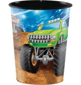 Creative Converting *VERRES 16OZ - MONSTER TRUCK