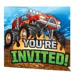 Creative Converting INVITATIONS (8) - MONSTER TRUCK