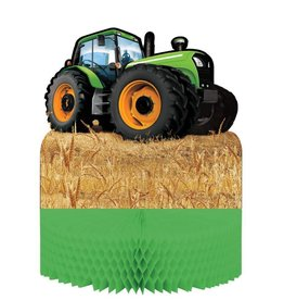 Creative Converting Tractor Time Centerpiece, Honeycomb
