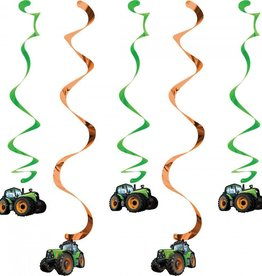 Creative Converting Tractor Time Dizzy Danglers
