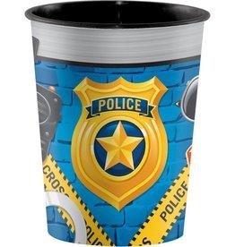 Creative Converting VERRE DE PLASTIQUE INDIVIDUEL 16OZ - POLICE