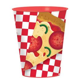 Amscan *VERRE DE PLASTIQUE 16OZ - PIZZA