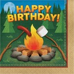 Creative Converting SERVIETTES DE TABLE (16) - CAMPING BDAY