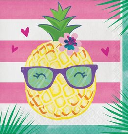 Creative Converting SERVIETTES DE TABLE (16) - ANANAS & AMIS