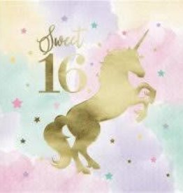 Creative Converting SERVIETTES DE TABLE(16) - LICORNE PASTEL SWEET 16
