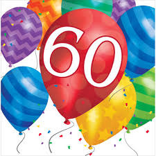 Creative Converting SERVIETTES DE TABLE (16) - BALLONS 60 ANS