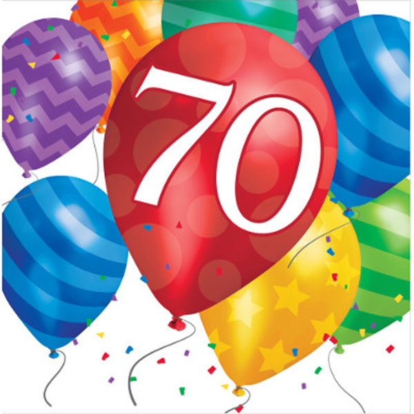 Creative Converting SERVIETTES DE TABLE (16) - BALLONS 70 ANS
