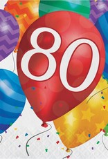 Creative Converting SERVIETTES DE TABLE (16) - BALLONS 80 ANS
