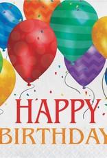 Creative Converting SERVIETTES DE TABLE (16) HAPPY BIRTHDAY - MOTIF BALLONS