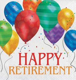 Creative Converting SERVIETTES DE TABLE (16) - BALLONS HAPPY RETIREMENT