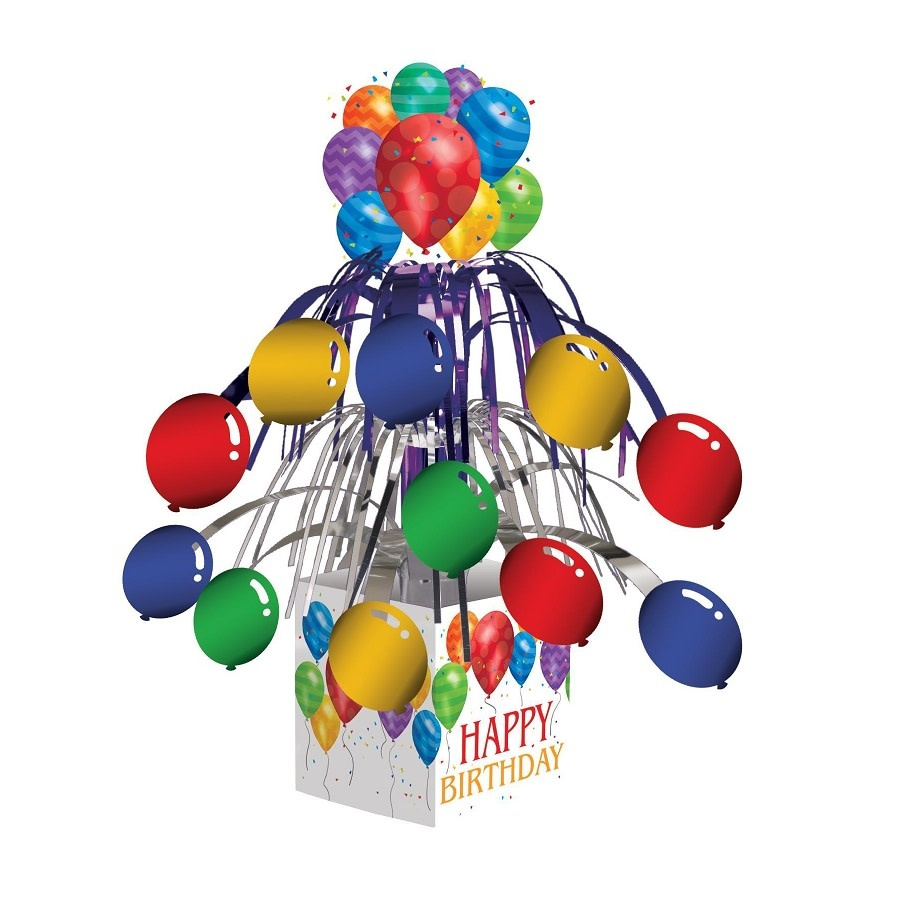 Creative Converting MINI CENTRE DE TABLE EN CASCADE - MOTIF BALLONS