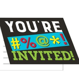 Creative Converting INVITATIONS (8) - HUMOUR ADULTE
