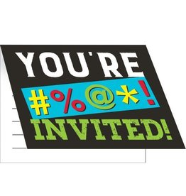 Creative Converting INVITATIONS (8) - HUMOUR ADULTE
