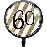 Creative Converting BALLON MYLAR 18PO - NOIR & OR 60ANS