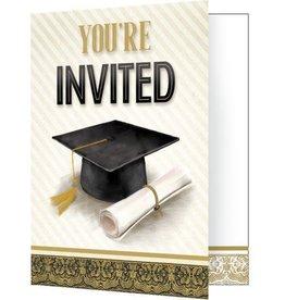 Creative Converting *CARTE D'INVITATIONS (8) - GRADUATION