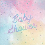 Creative Converting SERVIETTES DE TABLE (16) - BABY SHOWER IRIDESCENT