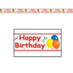 Beistle Co. RUBAN DE FÊTE 20PI - HAPPY BIRTHDAY