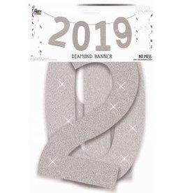Forum Novelty BANNIÈRE SCINTILLANTE 2019 - ARGENT