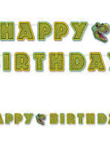 Beistle Co. BANDEROLE HAPPY BIRTHDAY 10 PI - DINOSAURE