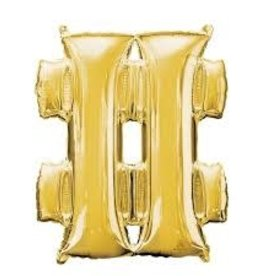 Anagram BALLON MYLAR SUPERSHAPE - SYMBOLE # - OR