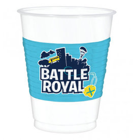 Amscan VERRES DE PLASTIQUE 16OZ (8) - FORTNITE - BATTLE ROYAL