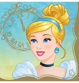 Amscan SERVIETTES DE TABLE (16) - CENDRILLON - PRINCESSES DE DISNEY