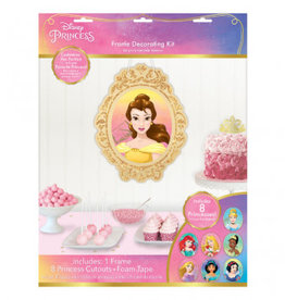 Amscan ENSEMBLE DE DÉCORATION PERSONNALISABLE- PRINCESSE DISNEY(8)