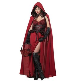 California Costumes COSTUME ADULTE SOMBRE CHAPERON ROUGE