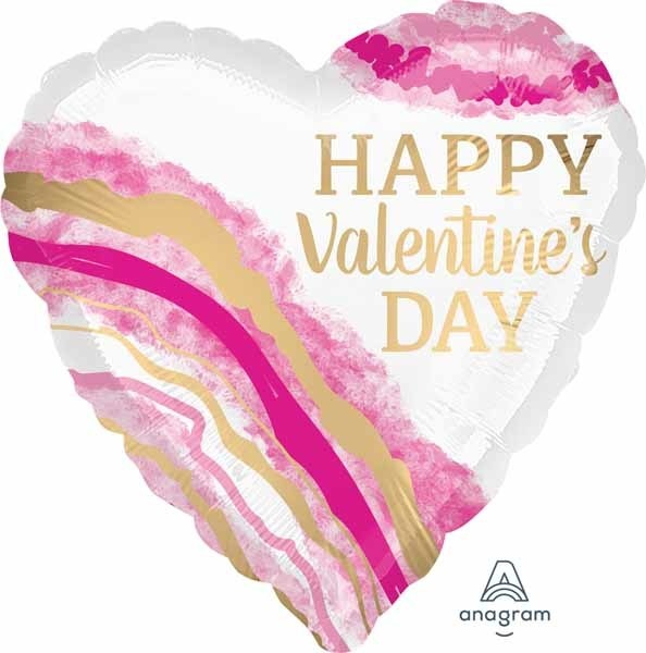 Anagram BALLON MYLAR 18PO - HAPPY ST VALENTINE AQUARELLE